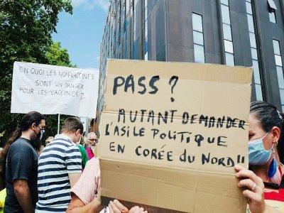 Manifestation contre le pass sanitaire à Toulouse, le 24 juillet 2021    Fred SCHEIBER [AFP]