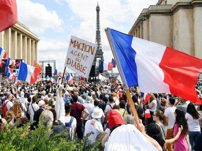 Manifestation anti pass sanitaire à Paris le 24 juillet 2021    Alain JOCARD [AFP]