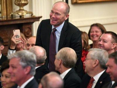 Le patron de Boeing, Dave Calhoun, le 15 janvier 2020 à la Maison Blanche à Washington, aux Etats-Unis    SAUL LOEB [AFP/Archives]