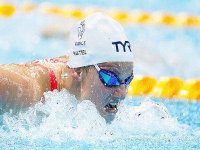 La nageuse française Marie Wattel lors des demi-finales du 100 m papillon des Jeux olympiques de Tokyo le 25 juillet 2021    Odd ANDERSEN [AFP]