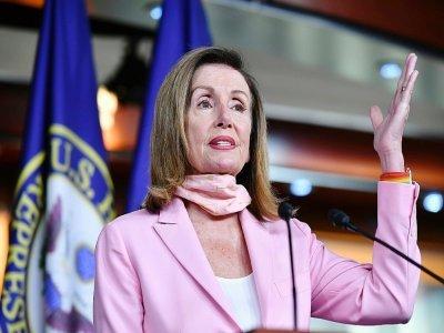 Nancy Pelosi au Capitole lors d'une conférence de presse le 31 juillet 2020    MANDEL NGAN [AFP/Archives]