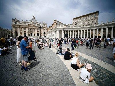 Sur la place Saint-Pierre, au Vatican, le 25 juillet 2021    Filippo MONTEFORTE [AFP]