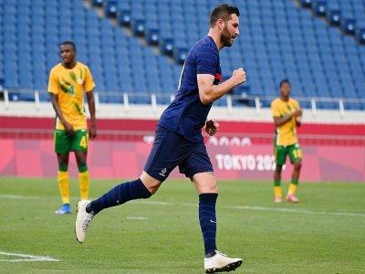 André-Pierre Gignac a porté la France lors de sa victoire spectaculaire contre l'Afrique du Sud  Saitama, le 25 juillet 2021    Kazuhiro NOGI [AFP/Archives]