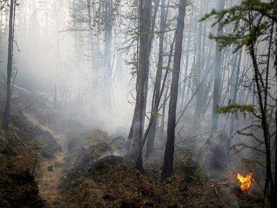 Un feu de forêt près deu village de Bias-Kiouïol (Russie) le 26 juillet 2021    Dimitar DILKOFF [AFP]