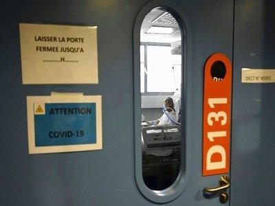 Un patient atteint du Covid-19 en soins intensifs au CHRU de Strasbourg, le 28 juillet 2021    FREDERICK FLORIN [AFP]