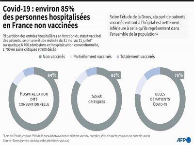 Covid-19 : environ 85% des personnes hospitalisées en France non vaccinées    Cléa PÉCULIER [AFP]