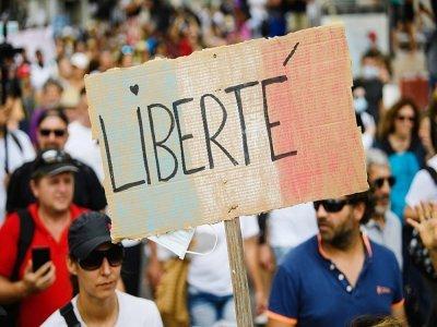 Manifestation contre le pass sanitaire à Marseille le 24 juillet 2021    CLEMENT MAHOUDEAU [AFP]