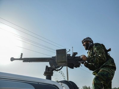 Forces afghanes déployées dans le district d'Enjil, dans la province d'Hérat, dans l'ouest de l'Afghanistan, le 30 juillet 2021    Hoshang Hashimi [AFP]