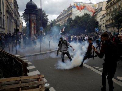 Manifestation contre le pass sanitaire, le 31 juillet 2021 à Paris    GEOFFROY VAN DER HASSELT [AFP]