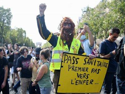 Manifestation contre le pass sanitaire à Paris le 24 juillet 2021    Alain JOCARD [AFP]