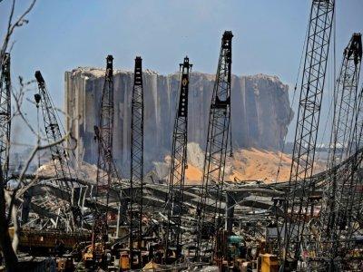 Le port de Beyrouth le 5 août 2020 au lendemain de l'explosion    JOSEPH EID [AFP/Archives]