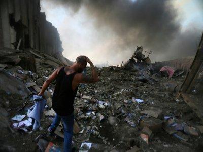 Dévastation au port de Beyrouth après l'explosion du 4 août 2020    STR [AFP/Archives]