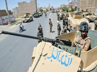 Un commando de l'armée afghane dans le district d'Enjil, dans la province d'Herat, le 1er août 2021    HOSHANG HASHIMI [AFP]