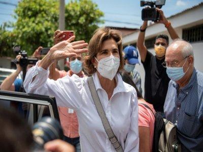 L'opposante Cristiana Chamorro, candidate à la présidentielle du Nicaragua, actuellement détenue, à Managua le 1er juin 2021    INTI OCON [AFP]