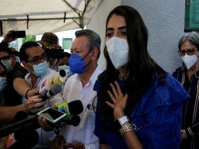 L'ancienne reine de beauté Berenice Quezada, 27 ans, l'une des deux adversaires de Daniel Ortega à la présidentielle au Nicaragua, à Managua le 2 août 2021    Oswaldo RIVAS [AFP]