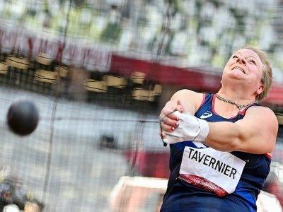 La lanceuse de marteau Alexandra Tavernier lors des qualifications, le 1er août 2021 aux Jeux olympiques de Tokyo    Andrej ISAKOVIC [AFP]