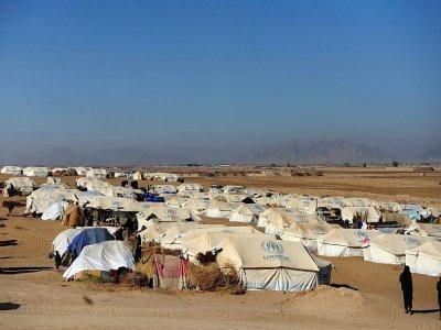 Vue d'ensemble de tentes d'un camp de déplacés dans le district de Dand, dans la province de Kandahar (Afghanistan), le 7 janvier 2021 - Javed TANVEER [AFP/Archives]