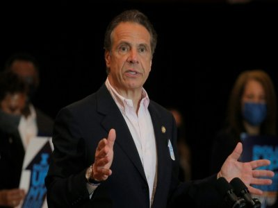 Andrew Cuomo à New York le 5 avril 2021    BRENDAN MCDERMID [POOL/AFP/Archives]
