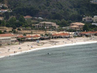 Une plage de Sagone, en Corse, le 25 juillet 2021 - Pascal POCHARD-CASABIANCA [AFP/Archives]