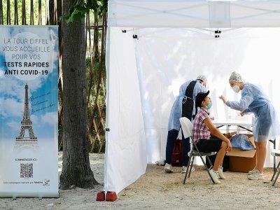 Test antigénique à Paris le 21 juillet 2021 - BERTRAND GUAY [AFP/Archives]
