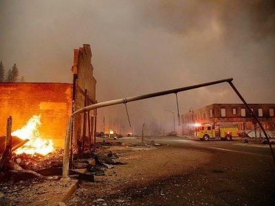 La ville de Greenville en Californie, décimée par les flammes, le 4 août 2021    JOSH EDELSON [AFP]