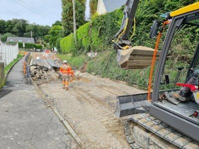 La rue Lesueur devrait rouvrir début septembre.