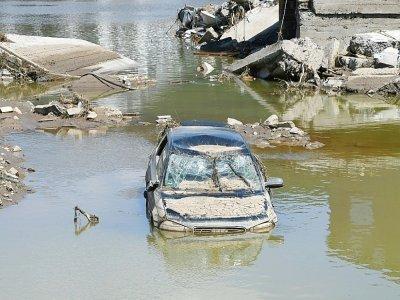 Inondations à Rech, le 21 juillet 2021 dans l'ouest de l'Allemagne    CHRISTOF STACHE [AFP/Archives]