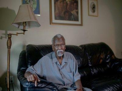 Robert Taylor, chez lui, le 12 août 2021 à Reserve, en Louisiane    Emily Kask [AFP]