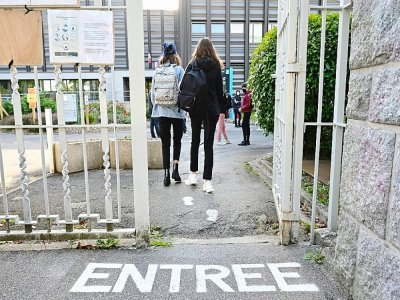Rentrée des classes dans un lycée de Rennes, le 1er septembre 2020    Damien Meyer [AFP/Archives]