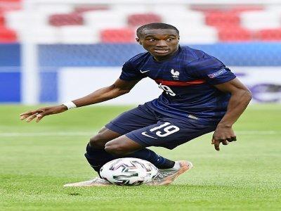 L'attaquant Moussa Diaby avec l'équipe de France Espoirs, le 31 mai 2021    Attila KISBENEDEK [AFP/Archives]