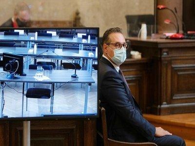 Heinz-Christian Strache au tribunal de Vienne, le 6 juillet 2021    ALEX HALADA [AFP]