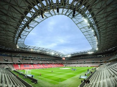 Le stade de l'Allianz Riviera, le 16 mai 2021 à Nice, avant le match de Ligue 1 contre Strasbourg, où se déroulera, à huis clos, le prochain match des Aiglons face à Bordeaux, le 28 août 2021    CLEMENT MAHOUDEAU [AFP/Archives]