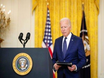 Joe Biden lors d'un discours sur l'Afghanistan à la Maison Blanche le 26 août 2021    Drew Angerer [GETTY IMAGES/AFP/Archives]