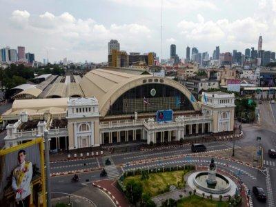 La gare de Hua Lamphong, le 20 août 2021 à Bangkok, en Thaïlande    Jonathan KLEIN [AFP]