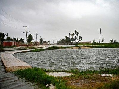 La côte cubaine de Batabano, au sud de la Havane, lors du passage de l'ouragan Ida le 27 août 2021    Yamil LAGE [AFP]
