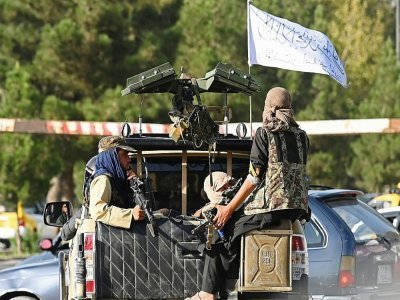 Patrouille de combattants talibans à Kaboul, le 27 août 2021    Aamir QURESHI [AFP]