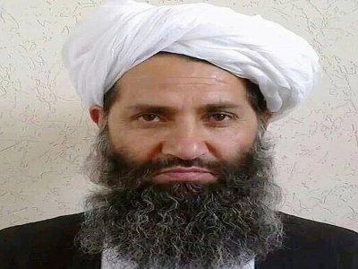 Le leader taliban Hibatullah Akhundzada en 2016 sur une photo fournie par les talibans    STR [Afghan Taliban/AFP/Archives]