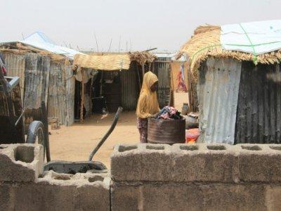 Une déplacée dans le camp informel de Yawuri, en bordure de Maiduguri, le 29 mars 2021    Audu Marte [AFP]