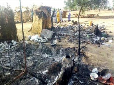 Un village dévasté après une attaque jihadiste à Badu, près de Maiduguri, le 28 juillet 2019 au Nigeria    Audu Marte [AFP/Archives]
