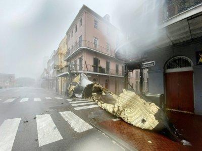 Une partie de toit détruite à La Nouvelle-Orléans le 29 août 2021    Patrick T. FALLON [AFP]