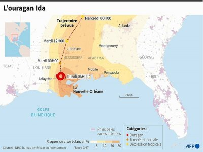L'ouragan Ida     [AFP]