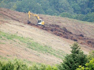 Nouvelles fouilles dans un bois d'Issancourt-et-Rumel pour retrouver le corps d'Estelle Mouzin, le 30 août 2021 dans les Ardennes    FRANCOIS NASCIMBENI [AFP]