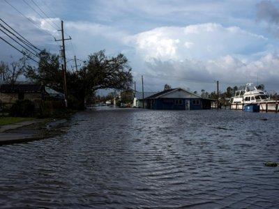 Une maison inondée à Montegut, en Louisiane, le 30 août 2021    Mark Felix [AFP]