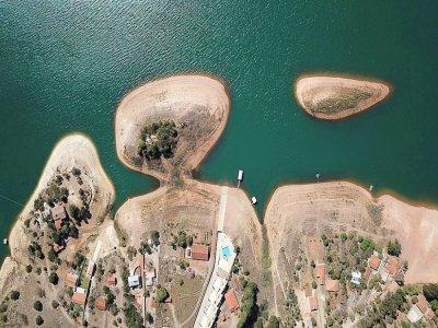 Vue aérienne du lac de Furnas, dans l'Etat de Minas Gerais, le 19 juillet 2021 au Brésil    Douglas Magno [AFP/Archives]