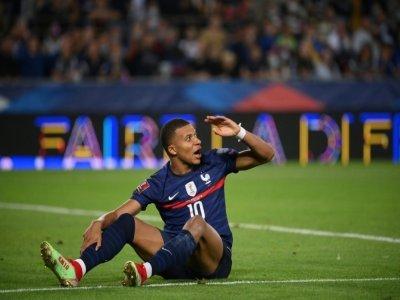 L'attaquant français Kylian Mbappé, lors du match contre la Bosnie-Herzégovine, qualificatif pour le Mondial-2022 au Qatar, le 1er septembre 2021 à Strasbourg    FRANCK FIFE [AFP]