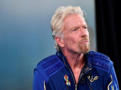 Richard Branson après son vol vers l'espace à Spaceport America, près de Truth and Consequences, au Nouveau-Mexique, le 11 juillet 2021    Patrick T. FALLON [AFP]