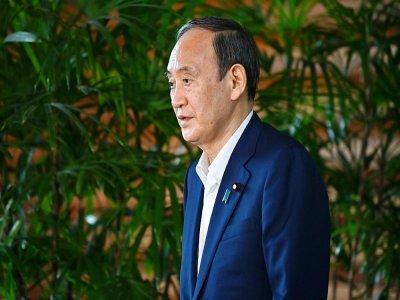 Le Premier ministre japonais Yoshihide Suga se prépare à s'adresser aux journalistes, à Tokyo le 3 septembre 2021    Kazuhiro NOGI [AFP]