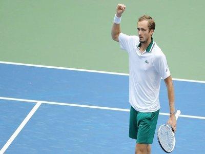 Daniil Medvedev facile vainqueur de l'Espagnol Pablo Andujar à l'US Open, le 3 septembre 2021 à Flushing Meadows    Kena Betancur [AFP]