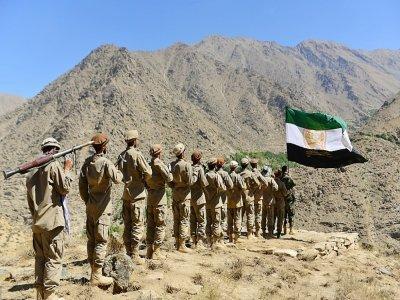 Des membres de la résistance afghane contre les talibans à l'entrainement dans le Panchir le 2 septembre 2021    Ahmad SAHEL ARMAN [AFP]