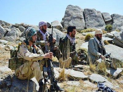 Patrouille de résistants aux talibans, dans le Panchir, le 1er septembre 2021    Ahmad SAHEL ARMAN [AFP/Archives]